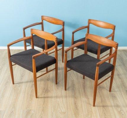 Set of 4 dining chairs by H.W. Klein for Bramin, Denmark 1960s