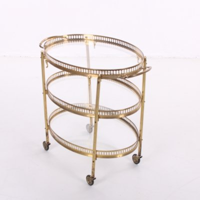 Golden Drinks trolley with three layers, 1950