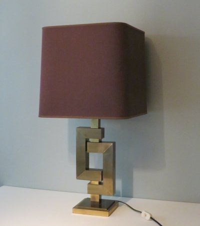 Brass desk lamp by Willy Rizzo, 1970