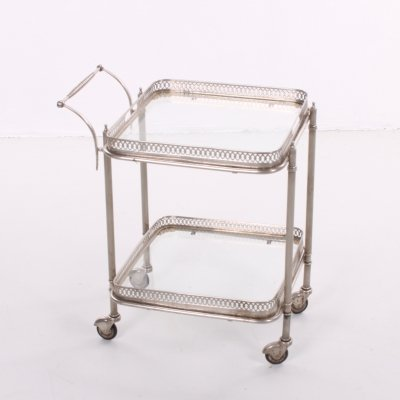 Silver drinking trolley, 1950
