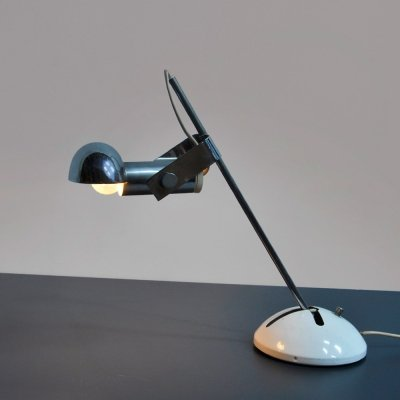 1970s desk lamp with chrome shade