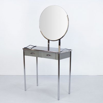 Art Deco American Royal Chrome Dressing Table by Royal Metal Manufacturing Co