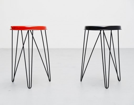 Tjerk Reijenga for Pilastro stools, Holland 1960