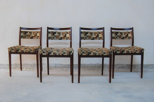 Set of 4 teak & fabric dining chairs by V.B. Wilkins for G Plan