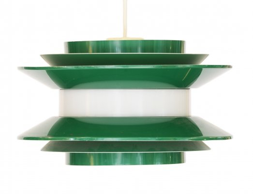 Large green 'Trava' pendant light by Carl Thore for Granhaga Metall, 1970s