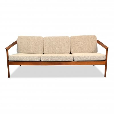 Vintage Swedish design Folke Ohlsson 'Colorado' teak 3-seating sofa