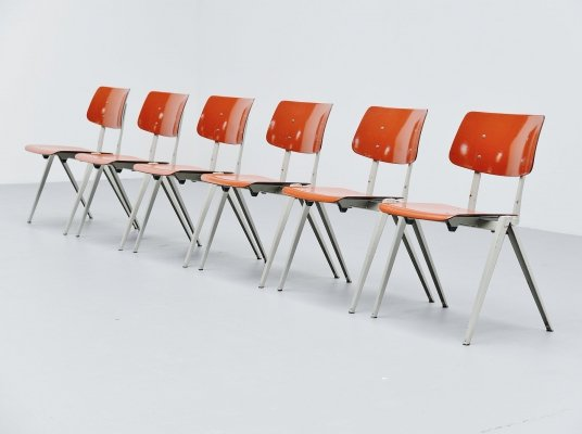 Galvanitas industrial stacking chairs, Holland 1970