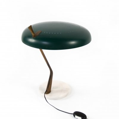 Italian Sculptural Table Lamp With Marble Base by Lumen Milano, 1950's