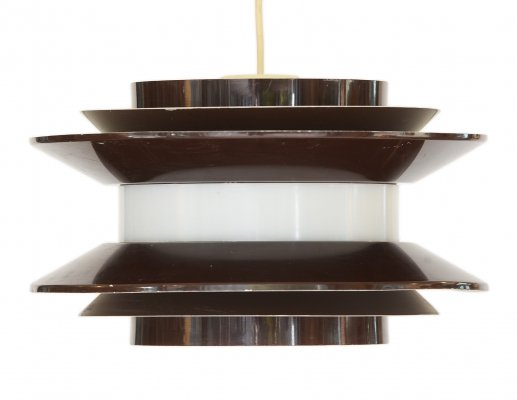 Large brown 'Trava' Pendant light by Carl Thore for Granhaga