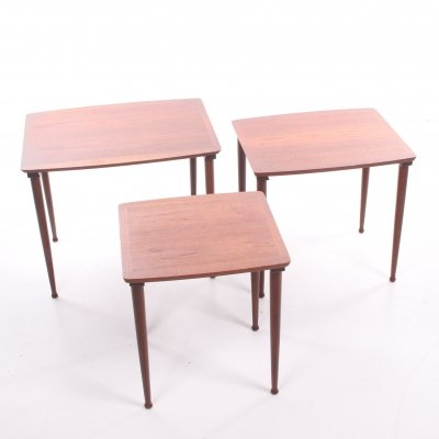 Scandinavian teak side tables by Poul Jensen for Selig, 1960s