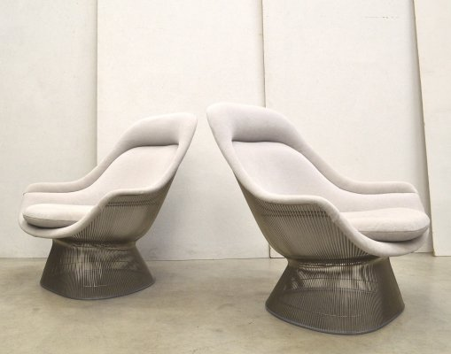 Pair of lounge chairs by Warren Platner for Knoll, 1980s