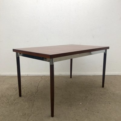Vintage Dutch design extendable rosewood dining table by Topform, 1960s