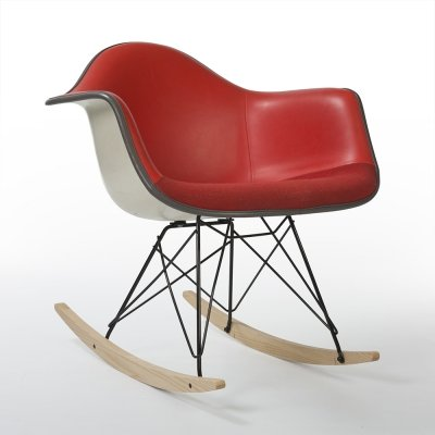 Red Herman Miller Original Vintage Eames Rocking RAR Arm Chair
