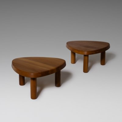 Pierre Chapo 'T23' Solid Elm Side Tables