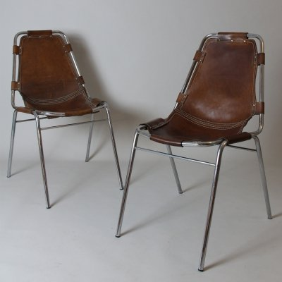 Pair of Les Arcs chairs selected by Charlotte Perriand, 1960s