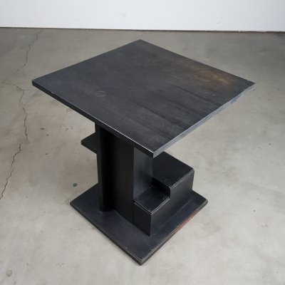 Constructivist asymmetrical side table, 1920s