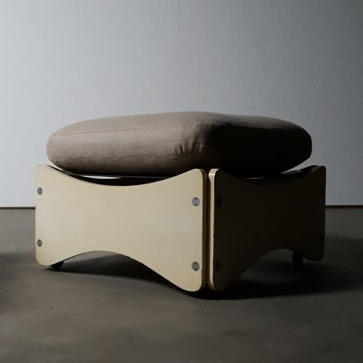 Rare Max Clendinning 'flat pack' stool by Race Furniture, UK 1967