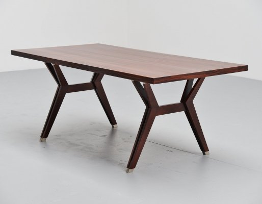 Ennio Fazioli for MIM dining table in rosewood, Italy 1958
