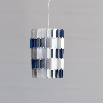 60s Louis Weisdorf 'facet' hanging lamp for Lyfa