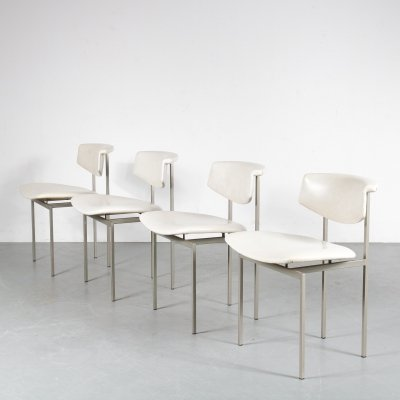 Set of 4 Alpha dining chairs by Rudolf Wolf for Gaasbeek en van Tiel, 1960s
