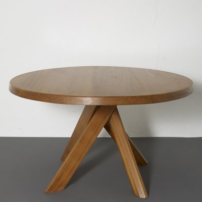 T21C dining table by Pierre Chapo, 1970s
