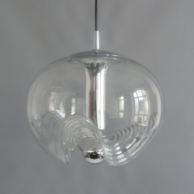 Wave pendant light by Peill & Putzler, 1970s
