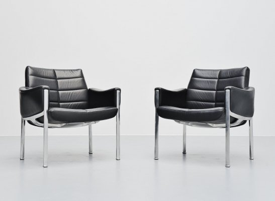 Pair of Miller Borgsen armchairs by Röder Söhne, Germany 1966