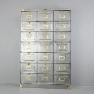 Strafor Clapets Industrial Cabinet, Circa 1920s