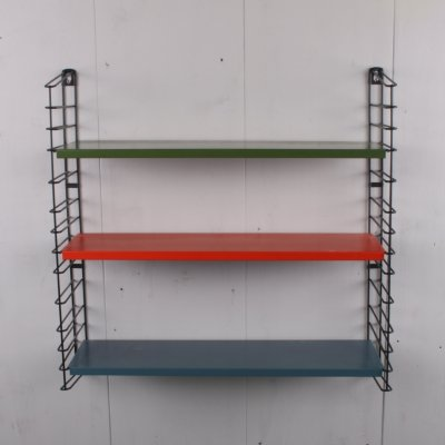 Tomado Wall Rack in red, green & blue, 1960s