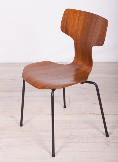 2 x Dining Chair Model 3103 by Arne Jacobsen for Fritz Hansen, 1970s