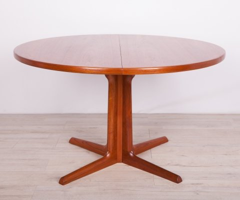 Mid Century Teak Round Dining Table from Gudme Mobelfabrik, 1960s