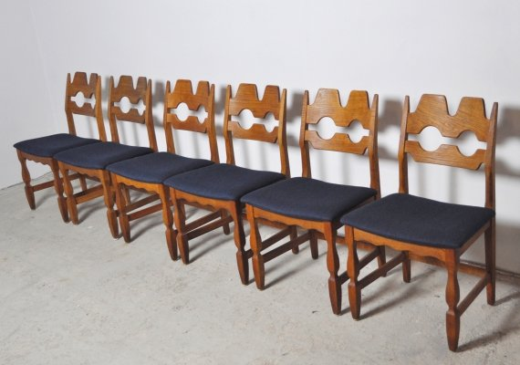 Danish Dining Chairs by Henning Kjærnulf, 1960s