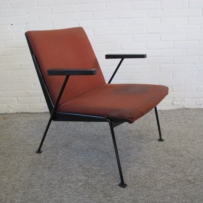 Vintage Oase arm chair by Wim Rietveld for Ahrend de Cirkel, 1950s