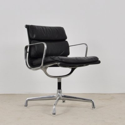 Leather Soft Pad Chair by Charles & Ray Eames for Herman Miller, 1970s