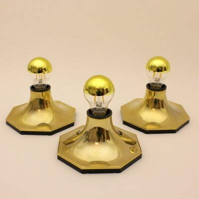 Set of three DIL Srl wall lamps, Italy 1980s