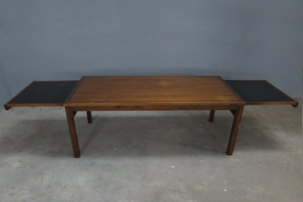 Vintage Danish design extendable side table in rosewood, 1970s