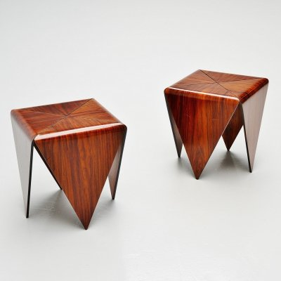 Jorge Zalszupin Petalas side tables by L'Atelier Brazil, 1959