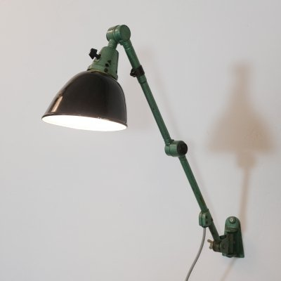 Industrial wall lamp by Midgard, 1950s