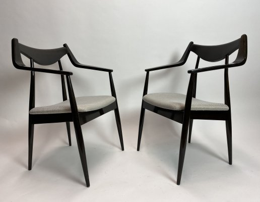 Pair of modernist armchairs, 1960s