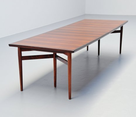 Arne Vodder long dining table by Sibast Møbler, Denmark 1960