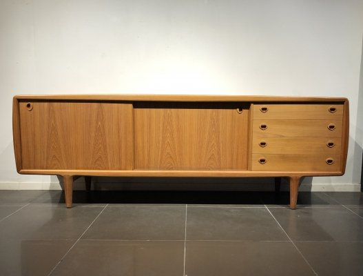 XL Teak Sideboard by HP Hansen, Denmark 1960s