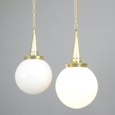 Opaline Pendant Lights by Marianne Brandt for Schwintzer & Gräff