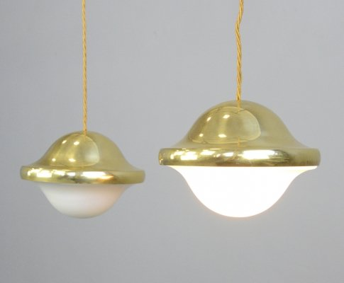 Pair of Bubi Pendant Lights by Henning Koppel for Louis Poulsen