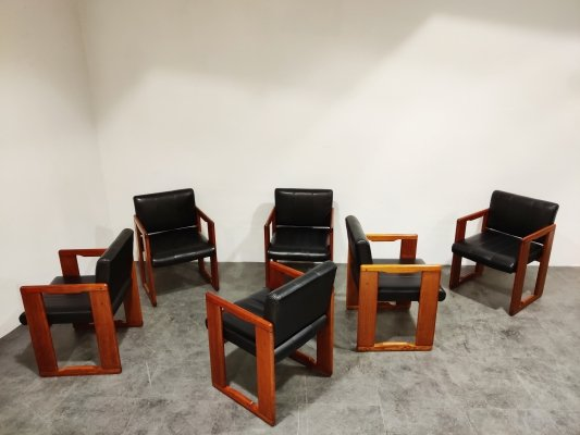 Set of 6 vintage dining chairs by Tobia & Afra Scarpa, 1970s