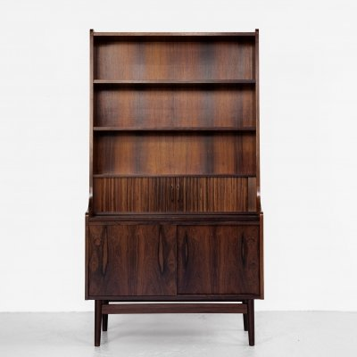 Midcentury secretaire book shelf in rosewood by Nexø, Denmark 1960s