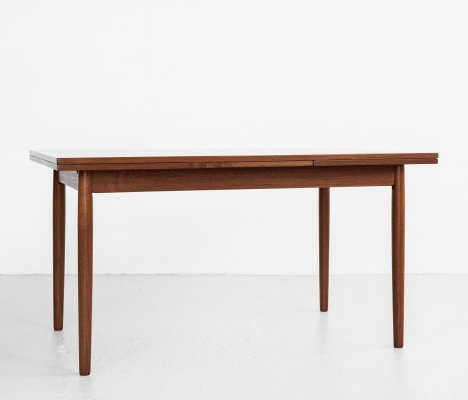 Midcentury Danish extendable dining table in teak, 1960s