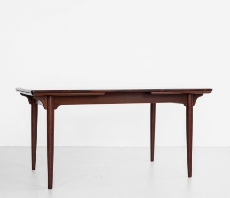 Midcentury Danish dining table in rosewood by Omann Jun, 1960s