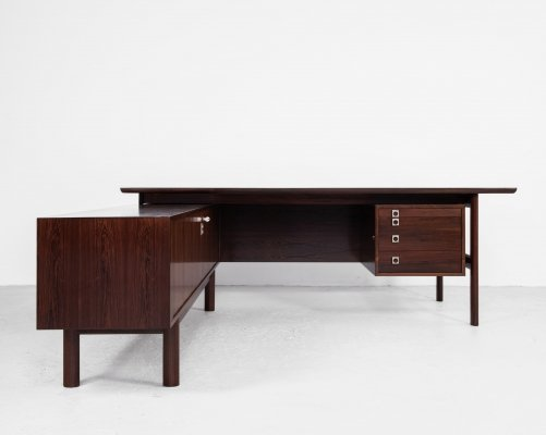Midcentury Danish Executive Desk in rosewood by Arne Vodder for Sibast, 1960s