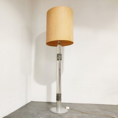 Brutalist Willy Luyckx floor lamp, 1970s