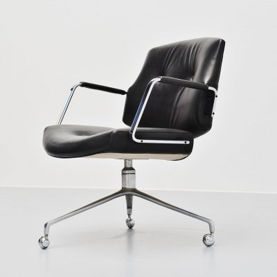 Jørgen Kastholm & Preben Fabricius FK84 swivel desk chair, 1968